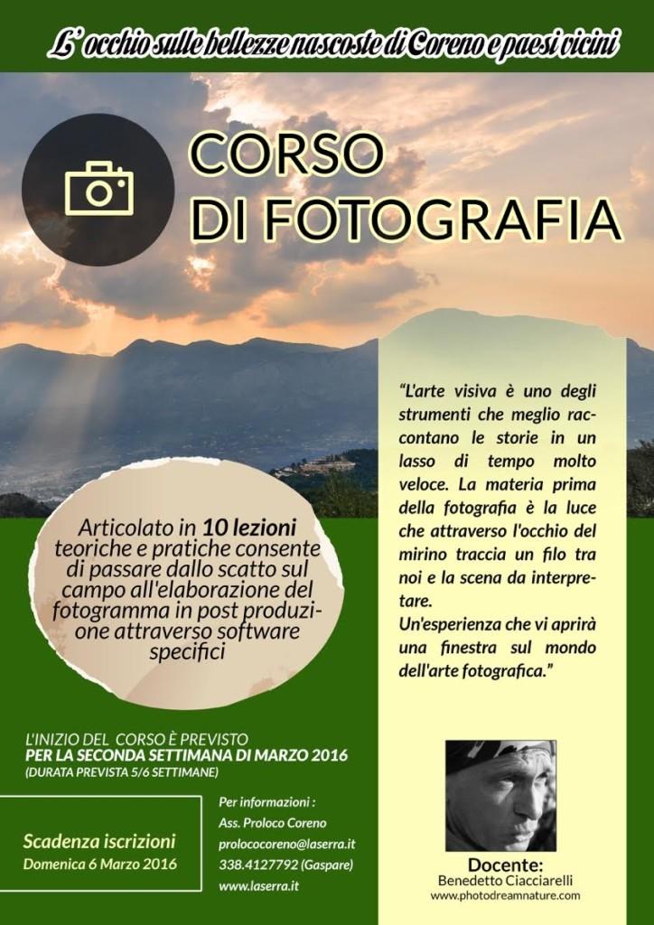 locandina corso di fotografia