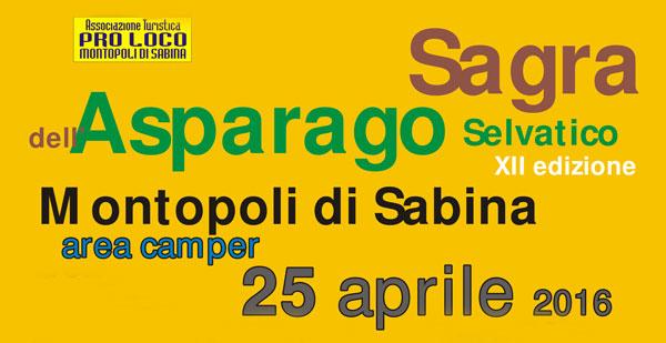XII Sagra dell'Asparago Selvatico a Montopoli di Sabina