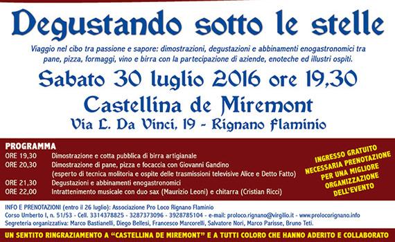 Degustando sotto le Stelle a Castellina de Miremont