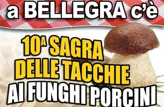 Sagra delle Tacchie ai Funghi Porcini organizzata dalla Pro Loco di Bellegra