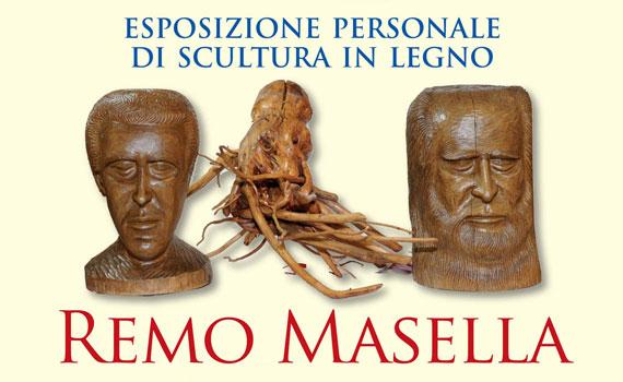 L'artista Remo Masella espone le sue sculture in legno a Fondi