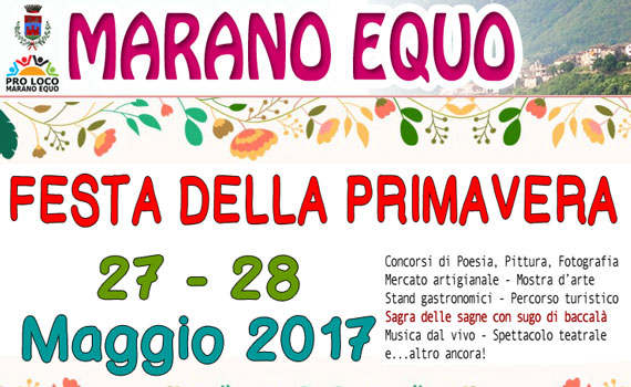 """La Pro Loco di Marano Equo organizza la """"Festa della Primavera"""""""