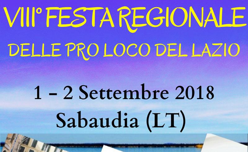 A Sabaudia l'Ottava edizione della Festa Regionale delle Pro Loco