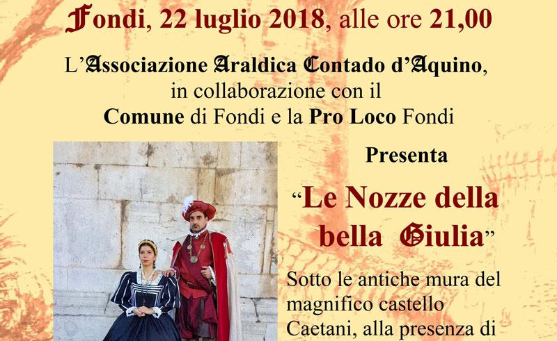 """A Fondi """"Le Nozze della bella Giulia"""""""