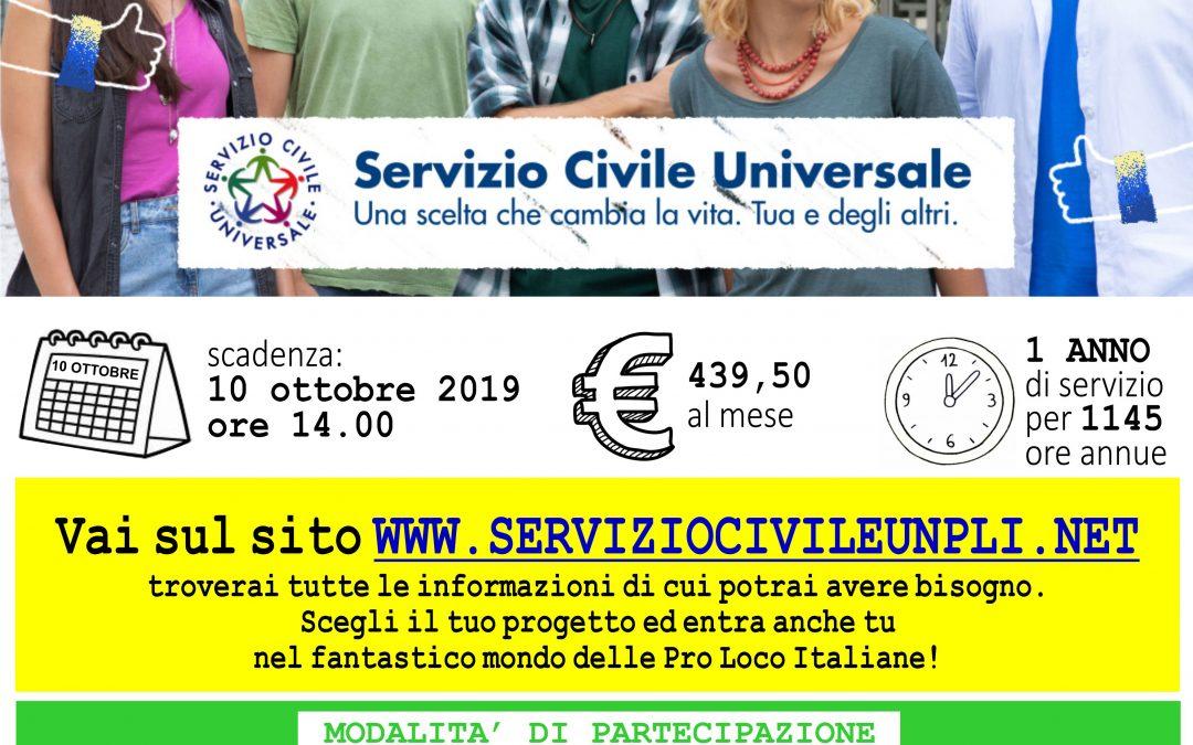 IL SERVIZIO CIVILE CON LE PRO LOCO: BANDO 2019