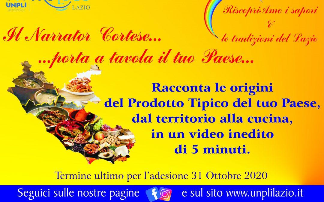 """Contest Video – Racconto: """"Il Narrator Cortese 2… porta a tavola il mio Paese"""""""