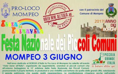 """A Mompeo parte la """"Festa nazionale dei piccoli comuni italiani"""""""