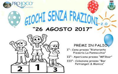 """A Cantalice si inaugura la prima edizione di """"Giochi senza frazioni 2.0"""""""